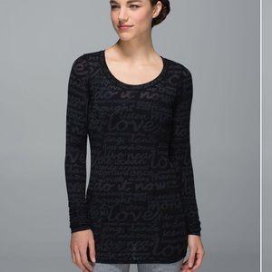 Lululemon Daily Practice long sleeve top blouse